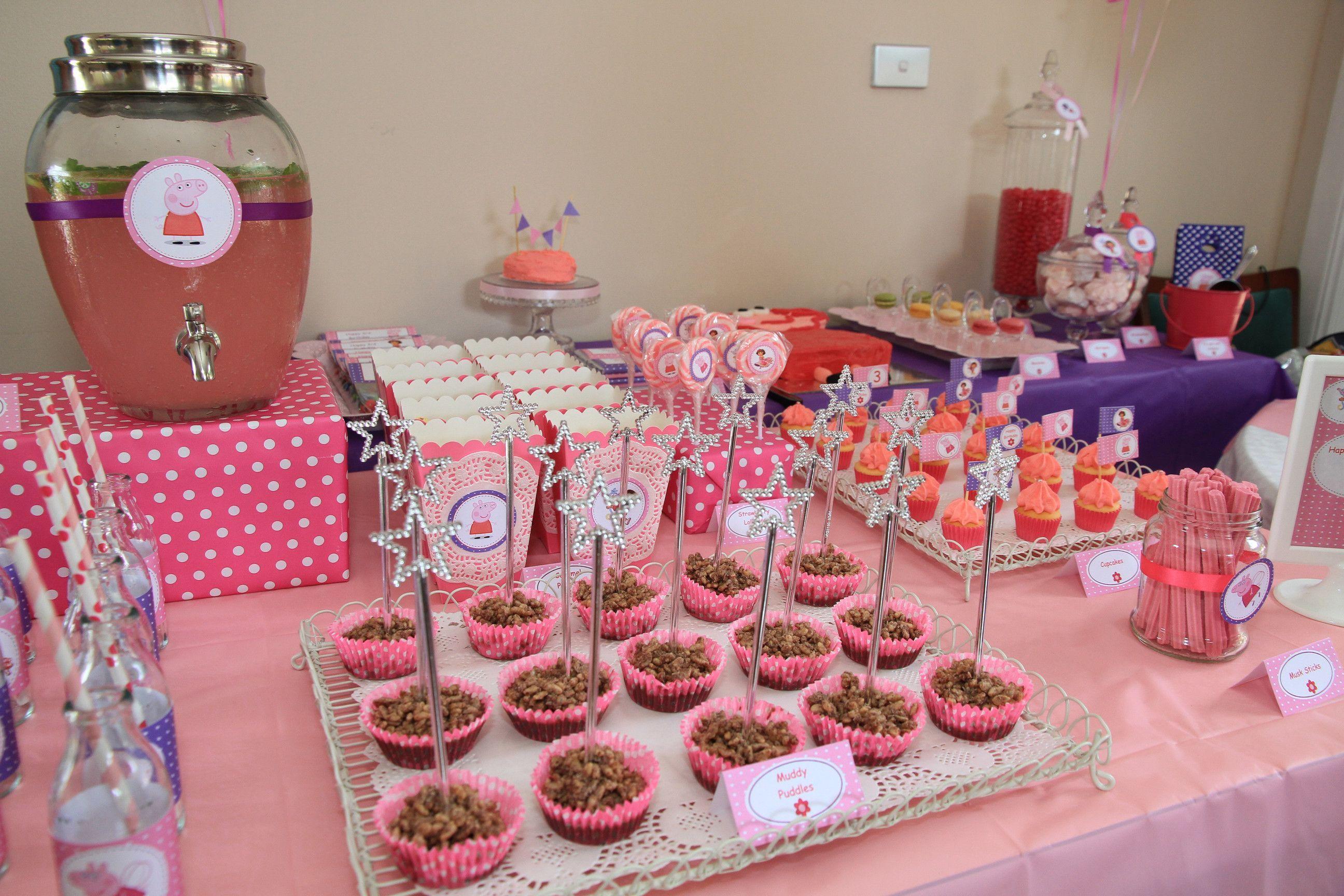 Fiesta peppa pig 10 dulces ideas luz angela - Ideas para decorar mesas de chuches ...