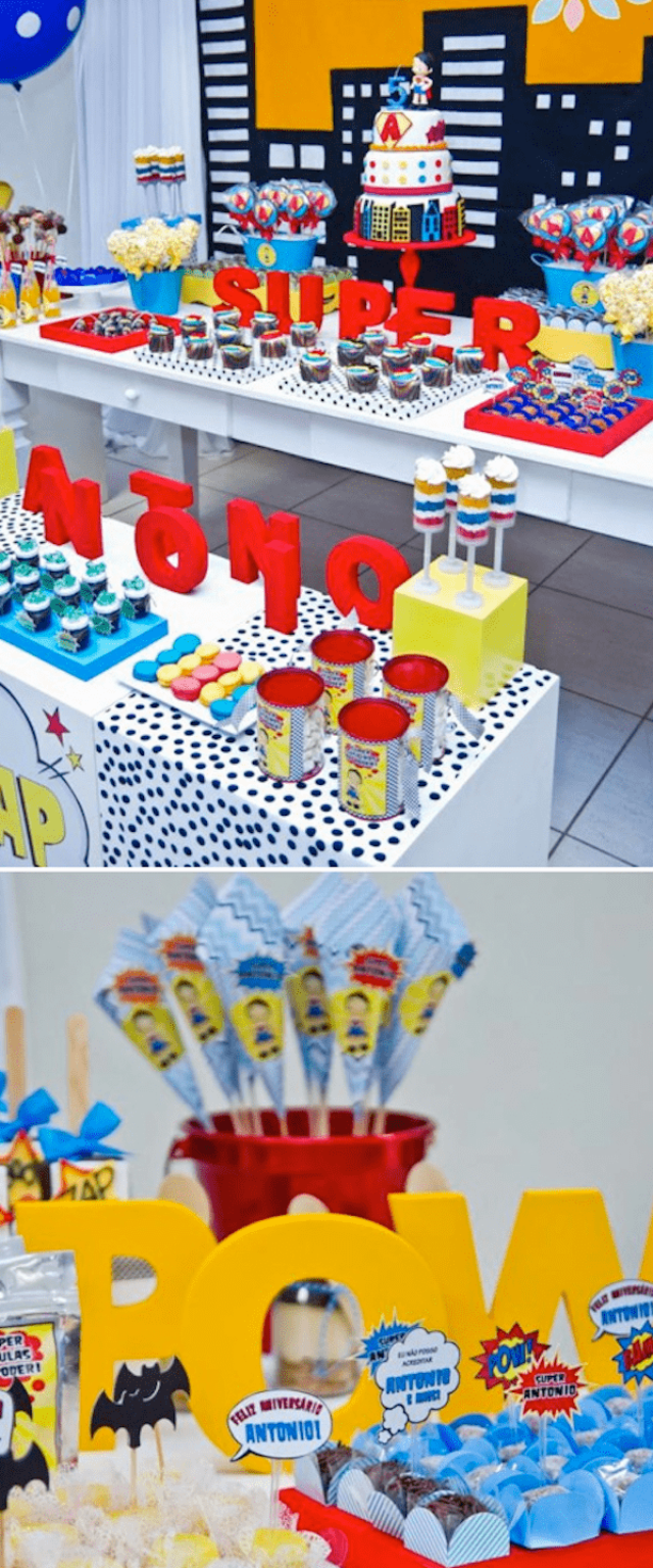 Superhero-Super-Hero-birthday-party-with-SO-MANY-cute-ideas-Via-KarasPartyIdeas.com-superhero-superman-super-hero-batman-birthday-party-idea