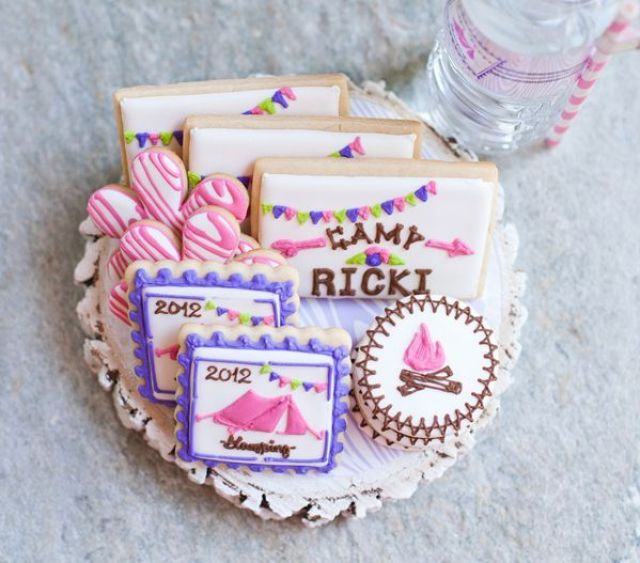 glam-camping-birthday-party-amazing-cookies