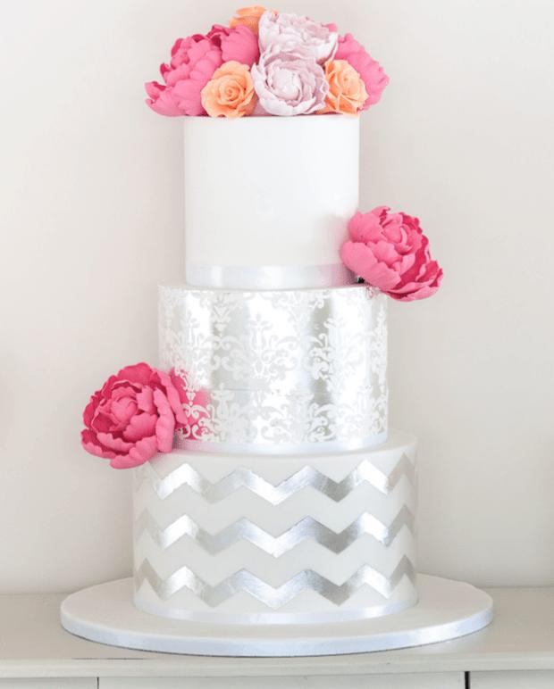 metallic-wedding-cake-3c