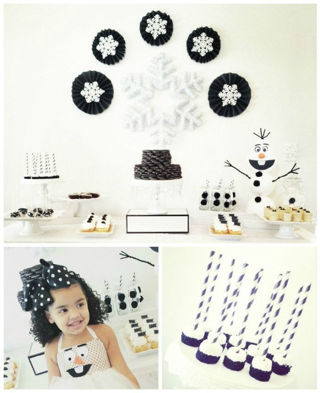 Olaf-Inspired-Black-White-Winter-Wonderland-Birthday-Party-via-Karas-Party-Ideas-KarasPartyIdeas.com10