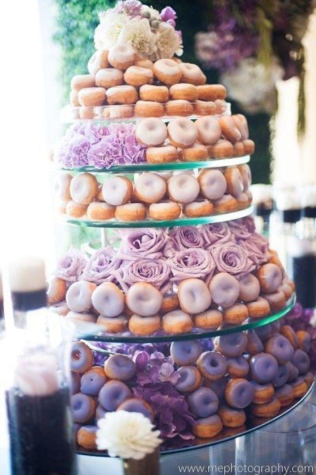 Pastel de Boda de Donuts donas