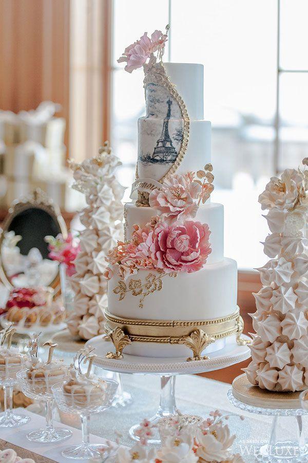 Mesas de dulces y pasteles con el tema par s luz angela - Ideas fiesta inauguracion piso ...