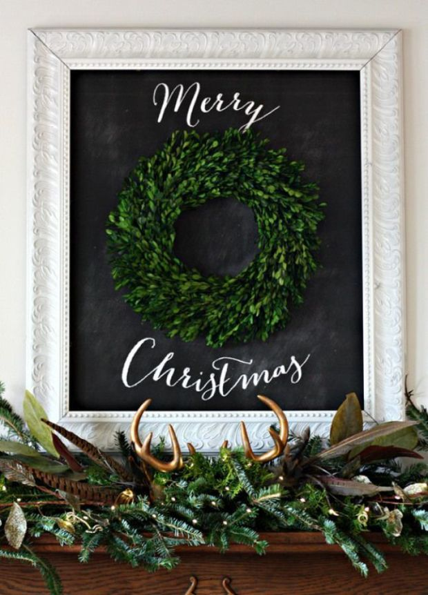 Merry-Christmas-Chalkboard-Mantel