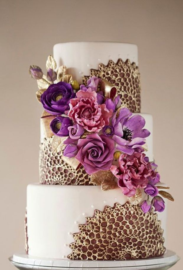 wedding-cake-photos-purple-gold