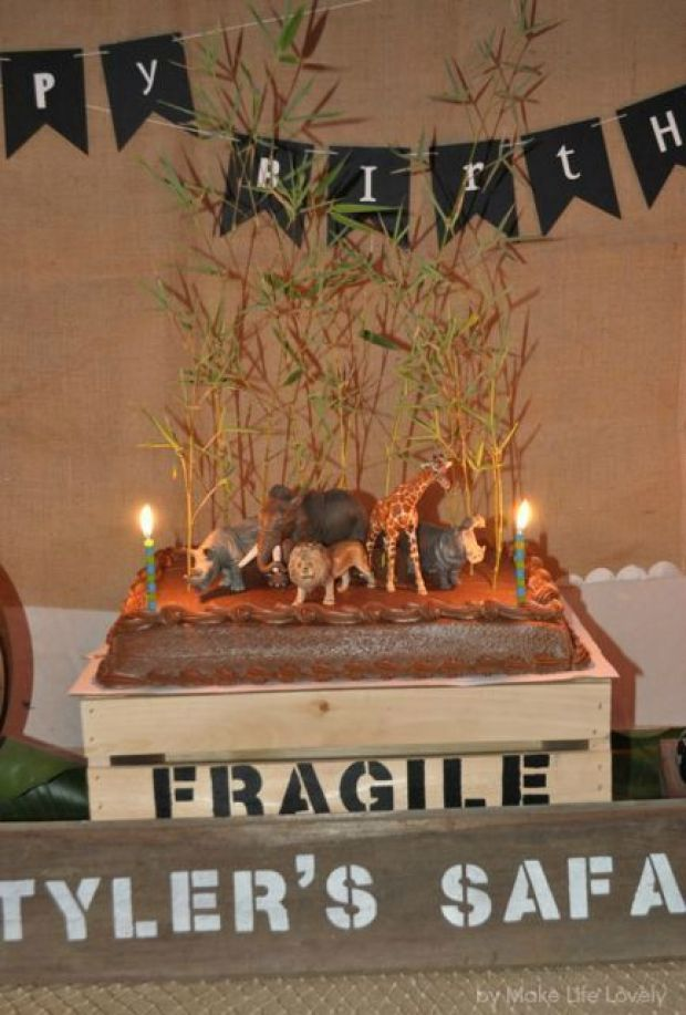 Jungle Safari Party Birthday Cake, by Make Life Lovely.jpg