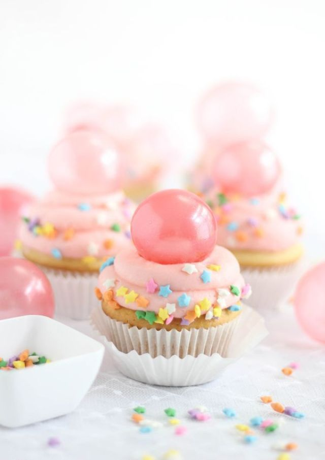 SprinkleBakes Bubble Gum Cupcakes with Gelatin Bubble Topper Tutorial 6.jpg