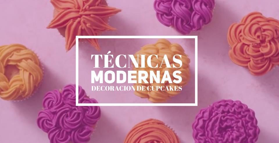 ¿Conoces las técnicas mas modernas de decoración de cupcakes?