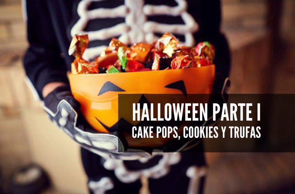 CAKE POPS TRUFAS Y COOKIES DE HALLOWEEN
