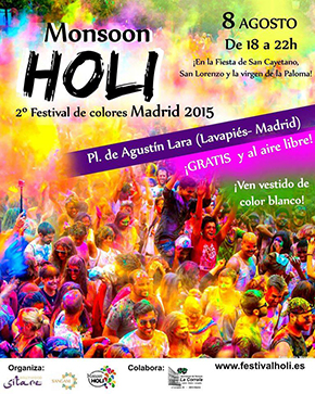 Monsoon Holi. 2º Festival de Colores Madrid 2015