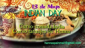 """""""Indian Day"""". Curso de Cocina India y Henna"""
