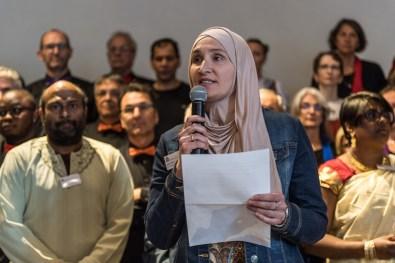 Ayla Alimi begrüsst im Namen der Projektgruppe