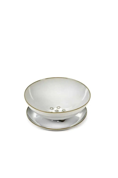 BOWL FRUTA S D13,5 C/PLATO D15,5 LIGHT GREY TERRES DE REVES