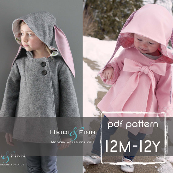 winter coat for kids sewing pattern bloged at LuzPatterns.com