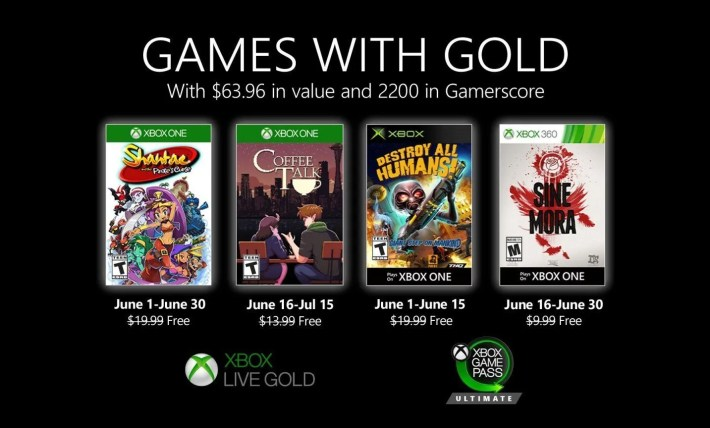 games with gold june