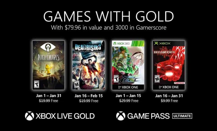 2021 Xbox Games With Gold