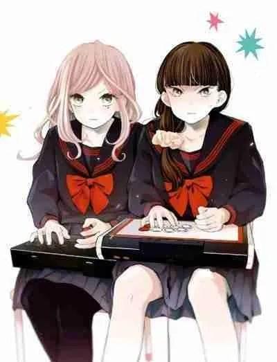 2 Girls playing a fighting game using arcade sticks