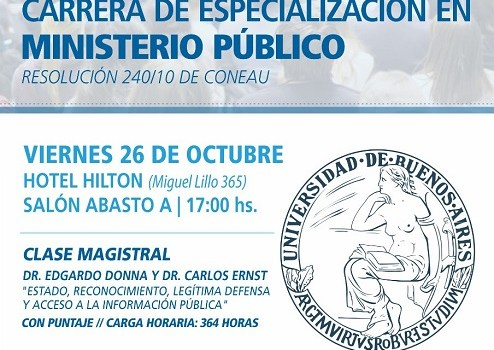 Abren inscripción para la 2ª Cohorte de la Especialización en Ministerio Público