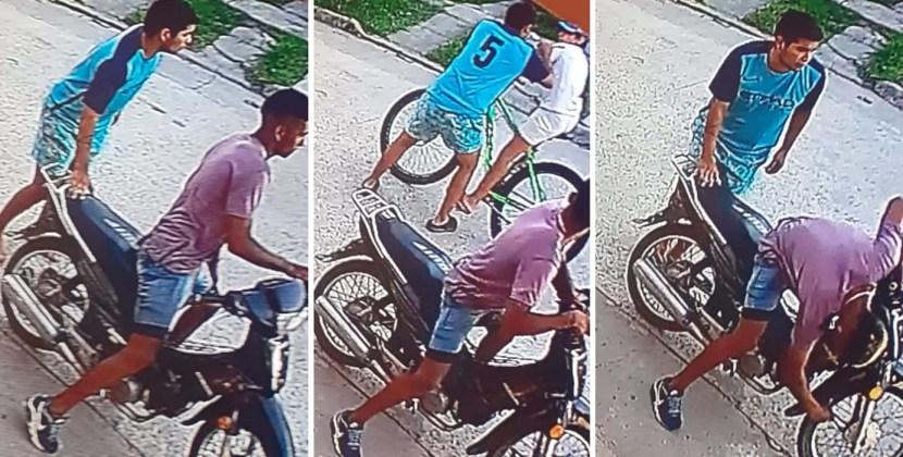 Detienen a dos sujetos que fueron filmados cuando asaltaban a un menor