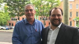 Marcel Groleau, président de l'UPA, et Christian Savard, directeur général de Vivre en Ville