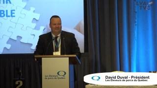 David Duval, président Les Éleveurs de porcs du Québec