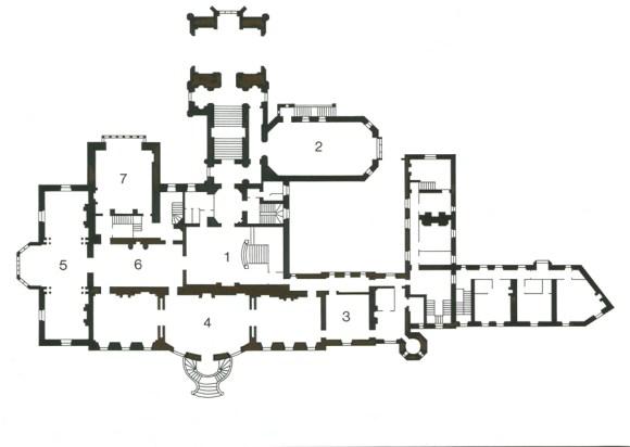 Markree Castle Ground Floor Plan © Lavender's Blue Stuart Blakley