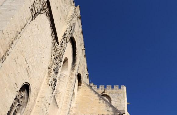 Papal Palace Walls Avignon © Lavender's Blue Stuart Blakley