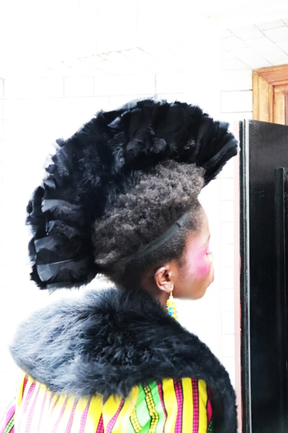 Hairstyle AFWL Africa Fashion Week London © Lavender's Blue Stuart Blakley