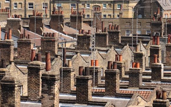 Roupell Street Conservation Area Waterloo London Aerials View © Lavender's Blue Stuart Blakley