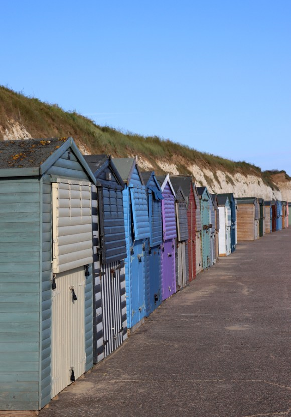 Beach Huts Westbrook Bay Kent © Lavender's Blue Stuart Blakley