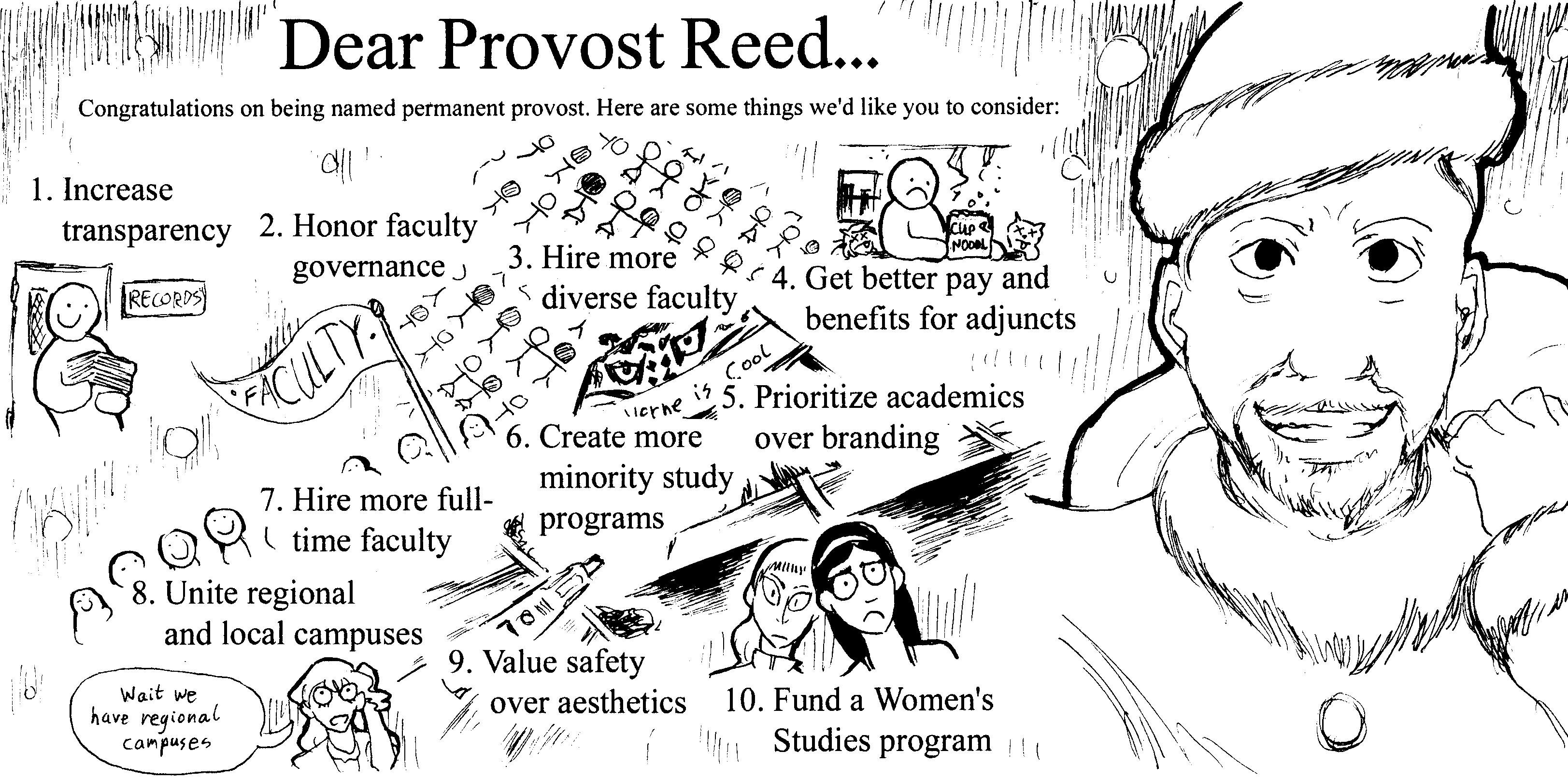 Dear Provost Reed