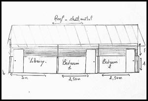 Sketch of Anevoka Library-Teacher Housing (photo © GERP/LVDI International)