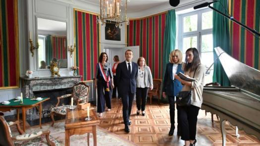 Château de Voltaire : la visite d'Emmanuel et Brigitte Macron pour la ré-ouverture au public [ juillet 2018 ]