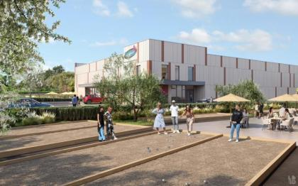 a petanque restaurant and a trampoline park land in thejournaltimemercial space