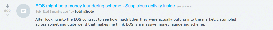 EOS money laundering reddit