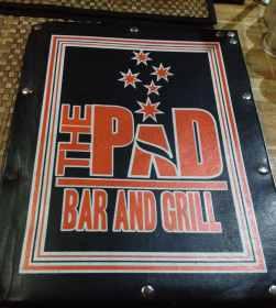 menu pad bar and grill
