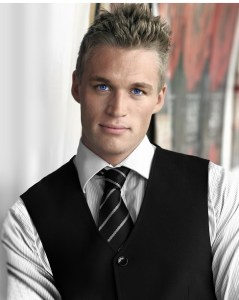 Young good looking businessman with copy space