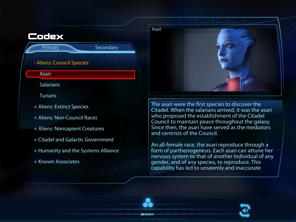 Image result for codex mass effect