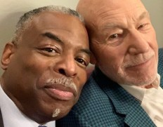 Levar Burton with Sir Patrick Stewart