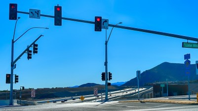 Lone Mountain road at the 215 freeway