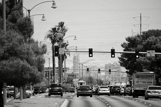 Sahara Avenue, eastbound