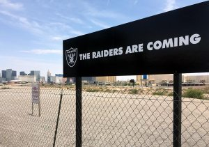 """The Raiders Are Coming"" sign"