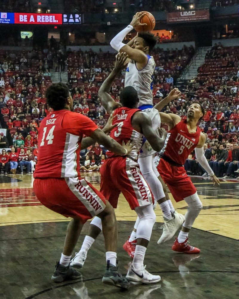 High-Energy UNLV Arena Thundered With Hoops Life For Rivalry