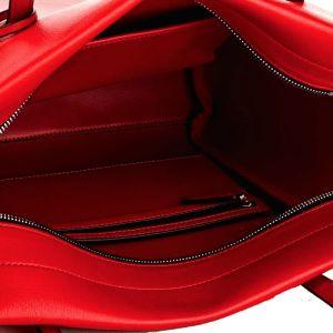 Cavin Klein kabelka Frame Large Shopper červená