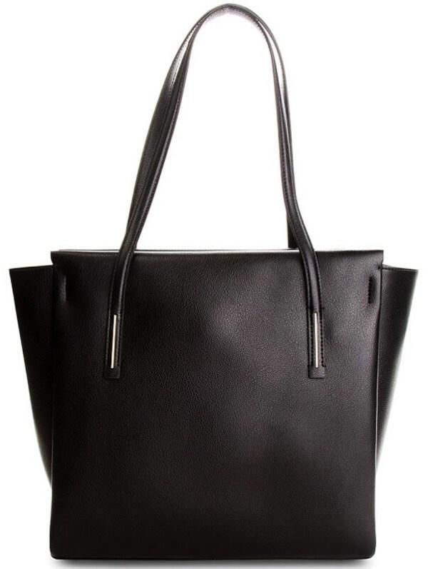 Kabelka Calvin Klein Frame Large Shopper čierna