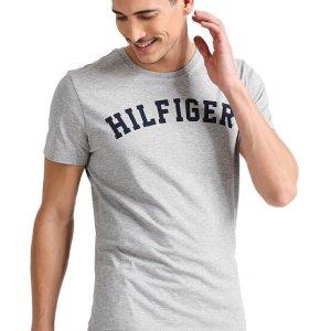 Pánske tričko Tommy Hilfiger Icon SS Tee Logo šedé