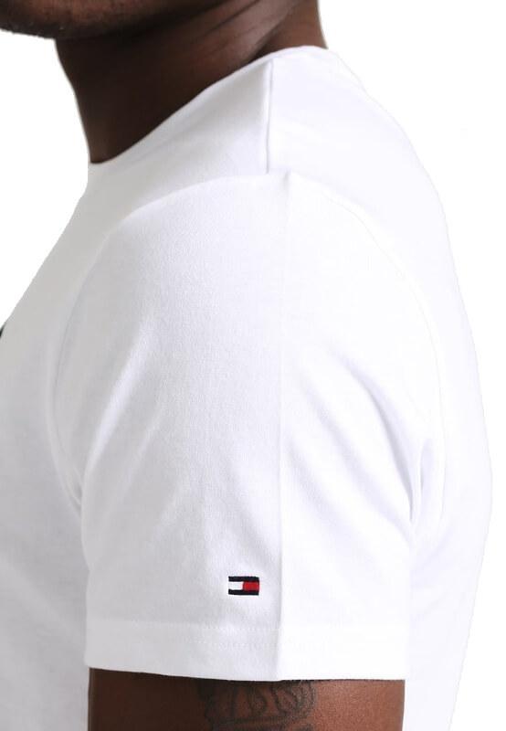 Pánske tričko Tommy Hilfiger Icon SS Tee Logo 100 biele detail