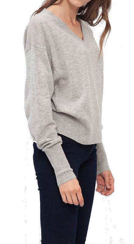 Tommy Hilfiger Gwynie V-Neck Sweater pulóver šedý