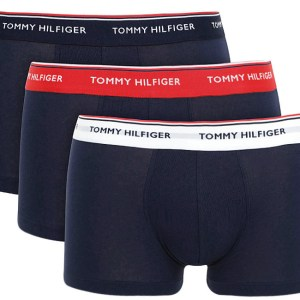 Tommy Hilfiger boxerky 3pack Low Rise Trunk Premium Ess. modrá/tricolor 904