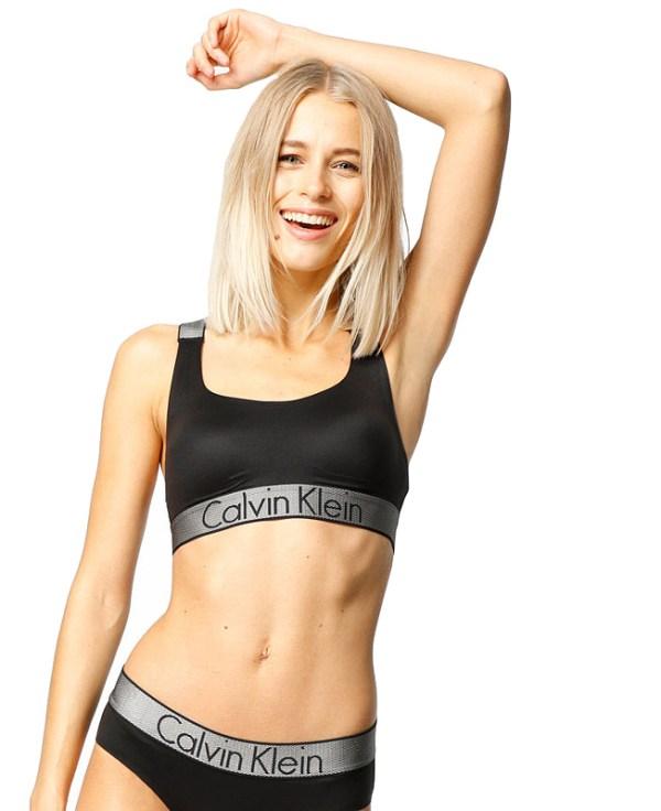 Calvin Klein podprsenka Customized Stretch Bralette Unlined čierna